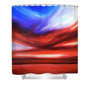 October Sky V Shower Curtain