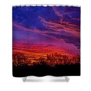 October Sunrise 3 Shower Curtain