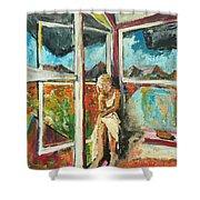 October Thirteenth  Shower Curtain