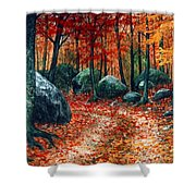 October Woodland Shower Curtain