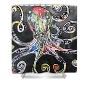 Octopus Apps Shower Curtain