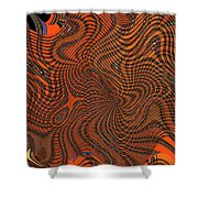 Octopus Red Shower Curtain
