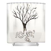 Octopus Tree Shower Curtain