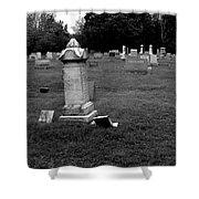 Odd Fellows Cemetery Shower Curtain