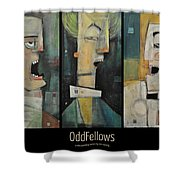 Odd Fellows Triptych Shower Curtain