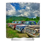 Odd Man Out Fords And Friend  Shower Curtain