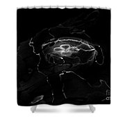 Oddysea Black Shower Curtain