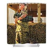 Ode To A Machine Gun Shower Curtain