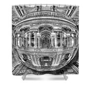 Ode To Mc Escher Library Of Congress Orb Horrizontal Shower Curtain