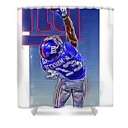 Odell Beckham Jr New York Giants Oil Art 2 Shower Curtain