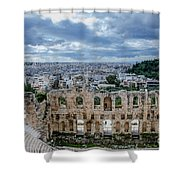 Odeon Of Herodes Atticus - Athens Greece Shower Curtain