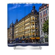 Odion Hotel Shower Curtain