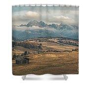 Odle Mountains - Alpe Di Siusi Shower Curtain