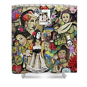 Of Babes And Butterflies Shower Curtain
