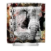 Of Elephants And Men Shower Curtain