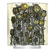 of Ripe poppies Shower Curtain
