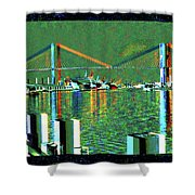Of Time And The Savannah River Bridge Shower Curtain