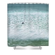 Off To Catch A Wave Shower Curtain