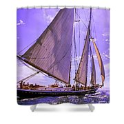 Off And Running Shower Curtain