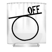 Off On A Tangent. Geometry Pun. Shower Curtain