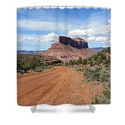 Off Road On The Red Rock Shower Curtain