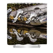 Off Season Outboards Shower Curtain
