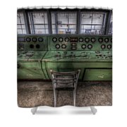 Off Set Control Shower Curtain