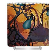 Off Stepping Shower Curtain