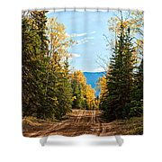 Off The Alaska Highway Shower Curtain