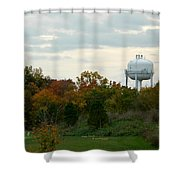 Off The Green-golf Course Shower Curtain