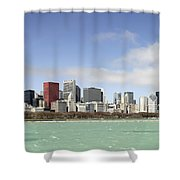 Off The Shore Of Chicago Shower Curtain