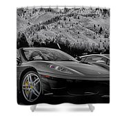 Off The Track Shower Curtain