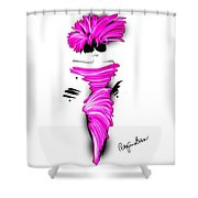 Off To Cocktails In Pink Shower Curtain