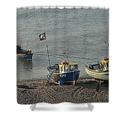 Off To Sea Shower Curtain