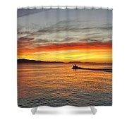Off To Work Shower Curtain