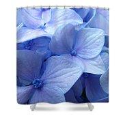 Office Art Prints Blue Hydrangea Flowers Giclee Baslee Troutman Shower Curtain