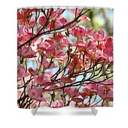 Office Art Prints Pink Flowering Dogwood Trees 18 Giclee Prints Baslee Troutman Shower Curtain