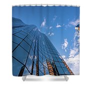 Office Buildings And Sky Shower Curtain
