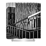 Office Buildings Reflections Shower Curtain