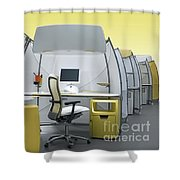 Office Funiture 3d Portfolio Shower Curtain