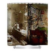 Office - Ole Tobias Olsen 1900 - Side By Side Shower Curtain