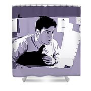 Office Space Peter Gibbons Movie Quote Poster Series 001 Shower Curtain