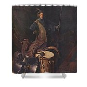 Officer Of The Marksman Society In Leiden Shower Curtain