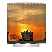 Officer's Row At Sunset Shower Curtain