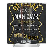 Official Man Cave Shower Curtain