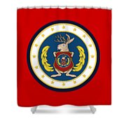 Official Odd Squad Seal Shower Curtain