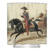Officiers Du Highlanders  Shower Curtain