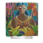 Ofrendas De Mi Tierra Shower Curtain