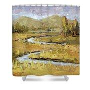 Ogden Valley Marsh Shower Curtain by David King
