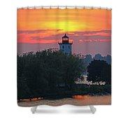 Ogdensburg Lighthouse At Sunset 6695 Shower Curtain